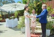 Affordable Garden  Wedding by Orna Binder Wedding Celebrant