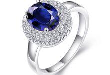 Tiaria Custom Engagement Ring 3 Perhiasan Cincin Tunangan Emas dan Batu Safir by TIARIA