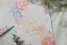 Agata & Reinhart Wedding by Bluebelle Invitations