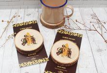 Wedding Atsiil & Ian - Souvenir Wood Coaster by Greenbelle Souvenir