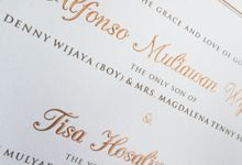 Alfonso & Tisa by Meltiq Invitation