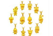 Tiaria Zodiac Mouse Gold Pendant Perhiasan Liontin Emas by TIARIA