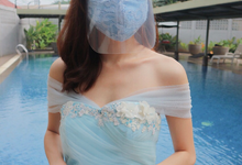 Amore Wedding Usher Baby Blue Gown by Amore Wedding Usher
