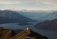 Magnificent New Zealand Prewedding of Amy & Kevin by fire, wood & earth