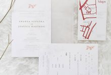Wediing Invitation - Maroon at the Rose by Kanoo Paper & Gift