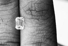 Emerald Cut Diamond Solitaire by Fiftyseven Diamond Jewellery
