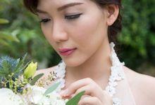 Outdoor Beautiful Wedding Photoshoot by Angel Chua Lay Keng Makeup and Hair