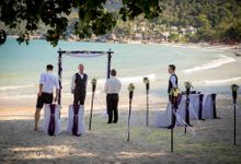Koh Phangan - Samll wedding on Thong Nai Pan Noi beach by Phangan Weddings