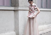 Tinker skirt in blush colour by Anna Ateliers