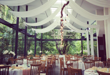 Wedding at glass house by antvrivm sound & lighting