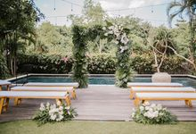 Simplicity Of Green and white by Dona Wedding Decoration & Planner