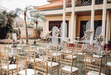 New Normal Holy Matrimony at Client House Backyard by Bali Wedding Atelier