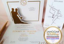 RINA & WAYNE (Golden Pop Up Luxury) by Sanggar Undangan