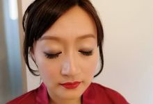 Asian Style Makeup and Hair for Chinese Tea Ceremony and Weddings in Thailand by Phuket Makeup Artist