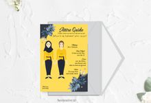 Attire Guide and Bridesmaid Card by hercreative.id