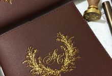 Leather Monogram Notebook for Audwin & Clarissa by Ellinorline Gift