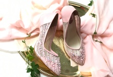 Blushing with Happiness by Aveda Footwear