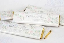 Personalised Wrapping Chocolate Bar by AZALEA CONCEPT