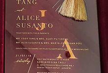 JACKSON & ALICE (Maroon Velvet Mica Luxury) by Sanggar Undangan