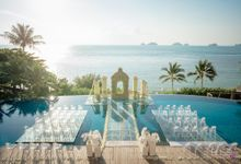 Wedding decoration Bliss events x Weddingism China at Conrad Koh Samui by BLISS Events & Weddings Thailand