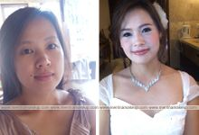 before and after make up&hair do by Chyntia Merrina by Chyntia Merrina Make Up Artist