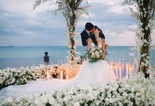 WHITE AND BLUSH WEDDING AT THE MULIA ISLAND RESORT OF VIVI & ARIEF by THE MULIA ISLAND RESORT (FAKE)