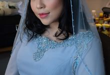 Wedding makeup for Ms Pricilla by Erliana Lim Makeup Artist