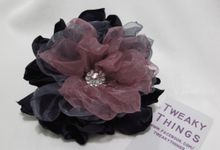 Flower brooch and hairclip by TweakyThings