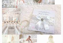 Kairos Sparkling white wedding invitation by Kairos Wedding Invitation