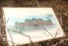 Belvedere Palace Scketch Invitations by Azka Gallery