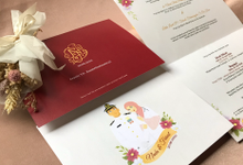 Hardcover Envelope Invitation by Bagya