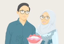 Couple Illustration by Bagya