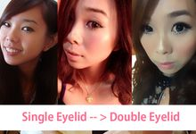 Single into Double Eyelid by Cindy Lin Make Up Artist