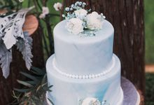 Dusty Blue Winter Theme Styled Shoot With Bridestory by oolphoto