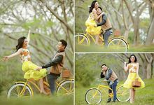 prewedding photoshoot by Vidi Daniel Makeup Artist managed by Andreas Zhu