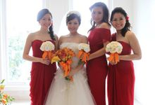 Bride & Bridesmaid by DHITA bride