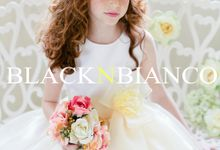 Three Layered Flower Girl Dress by Black N Bianco