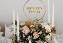 Rustic wedding of Billy & Esther with modern and clean details by Elior Design