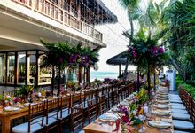 Wedding Reception at The Beach House by The Legian Seminyak, Bali