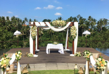 Wedding Ceremony at Kamandalu Ubud by Becik Florist