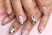 Japanese stone wedding nails by Belleza Nails