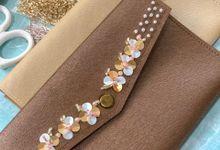 Envelope Clutch by BETTERHALF Souvenir & Gift