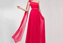 Long dress untuk pesta warna Fushia by BFF Rent Dress