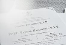 Wedding Stationery for Nadia & Yaumil by BIDESH