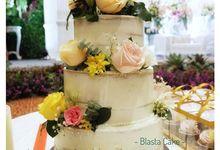 elegant buttercream cake by Blasta Cake