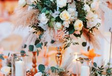 Ashley & Joel - Blush White Wedding by Blissmoment