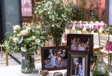 Jun Ghai & Natalie-White & Champagne Garden Wedding by Blissmoment
