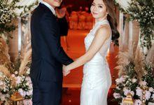 Ashley & Joel - Blush White Wedding by Blissmoment