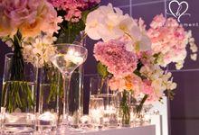 Elegant Spring Wedding Reception by Blissmoment