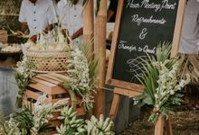 ANGGUN & CHRISTIAN LUCKY DAY by Bloomz Flower Bali